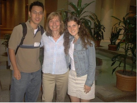 Fig AH-9: L-R: HOPES team member Shawn Fu, Dr. Marcy MacDonald, and HOPES team member Taylor Altman