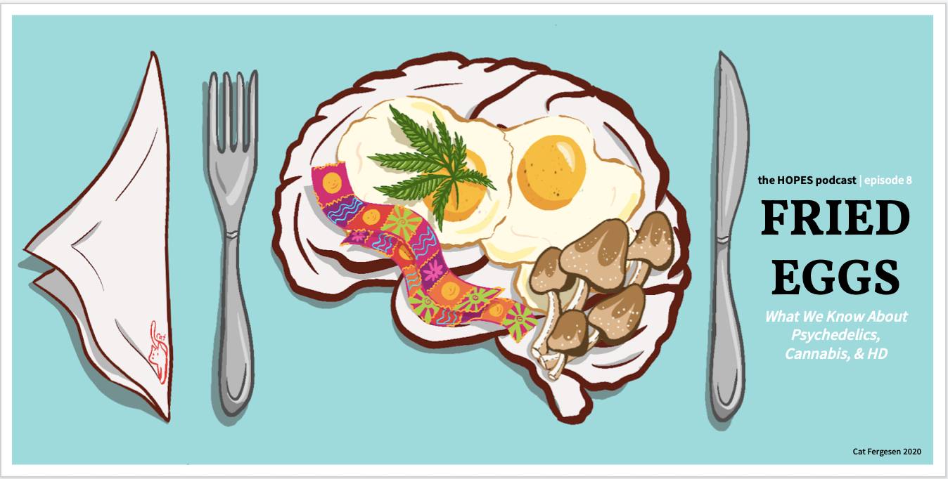The HOPES Podcast | Episode 8: Fried Eggs – Psychedelics, Cannabis, and HD